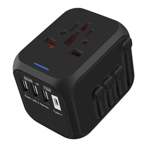 Whew Travel Adapter with Auto-Reset Fuse